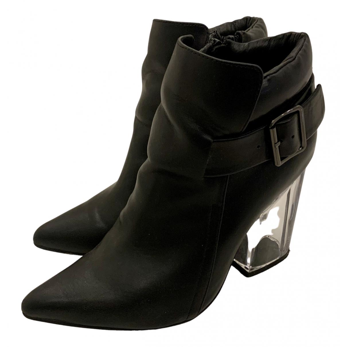 Jeffrey Campbell - Boots   pour femme en cuir - noir