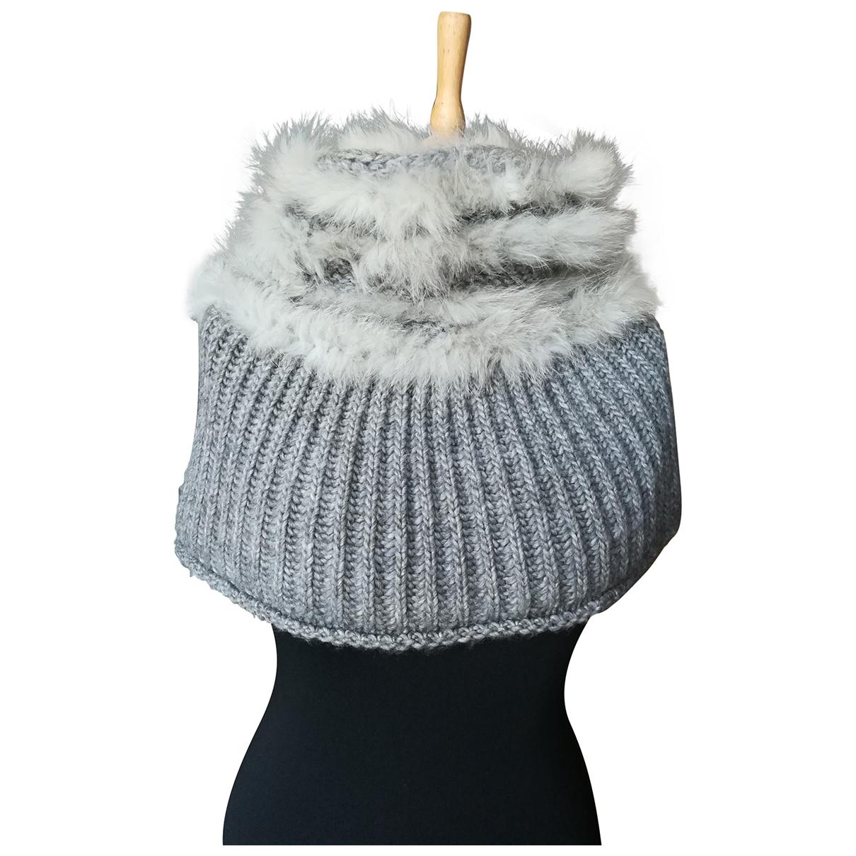 Pinko - Foulard   pour femme en laine - gris