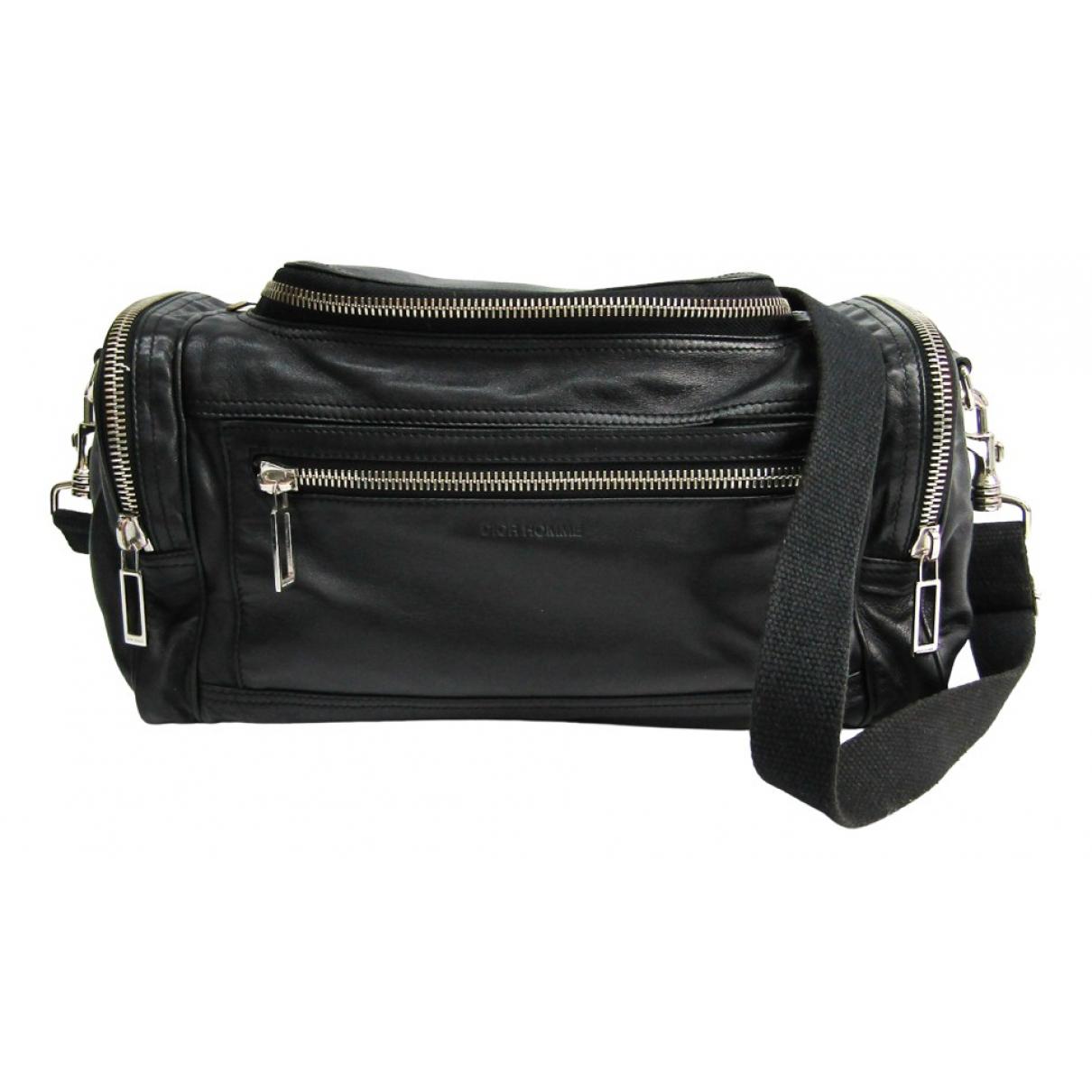 Dior Homme \N Handtasche in  Schwarz Leder