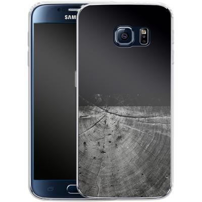Samsung Galaxy S6 Silikon Handyhuelle - Wood Grain Slice von caseable Designs