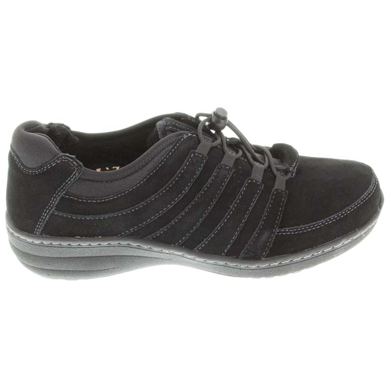 Aetrex Laney Black Leather Slip-Resistant 42