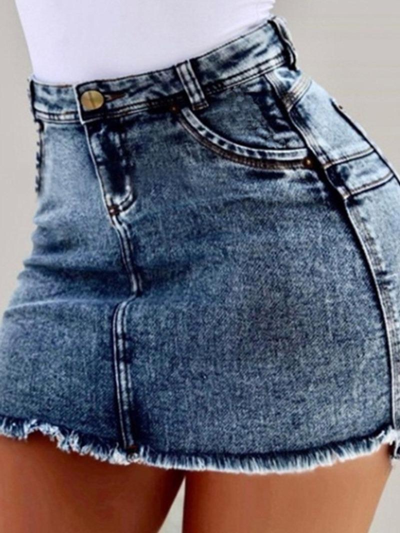 Ericdress Bodycon Mini Skirt Plain Simple Skirt