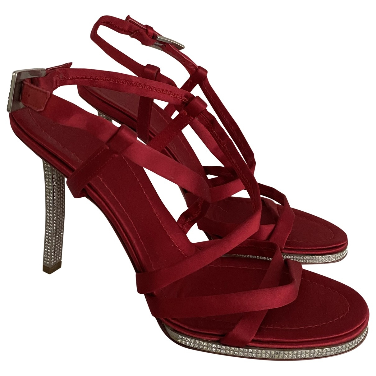 Valentino Garavani \N Red Cloth Sandals for Women 37 EU