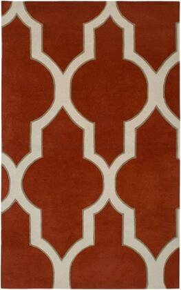 VOLVO213400750810 Volare VO2134-8' x 10' Hand-Tufted 100% Wool Rug in Rust  Rectangle