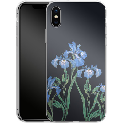 Apple iPhone X Silikon Handyhuelle - My Iris von Stephanie Breeze