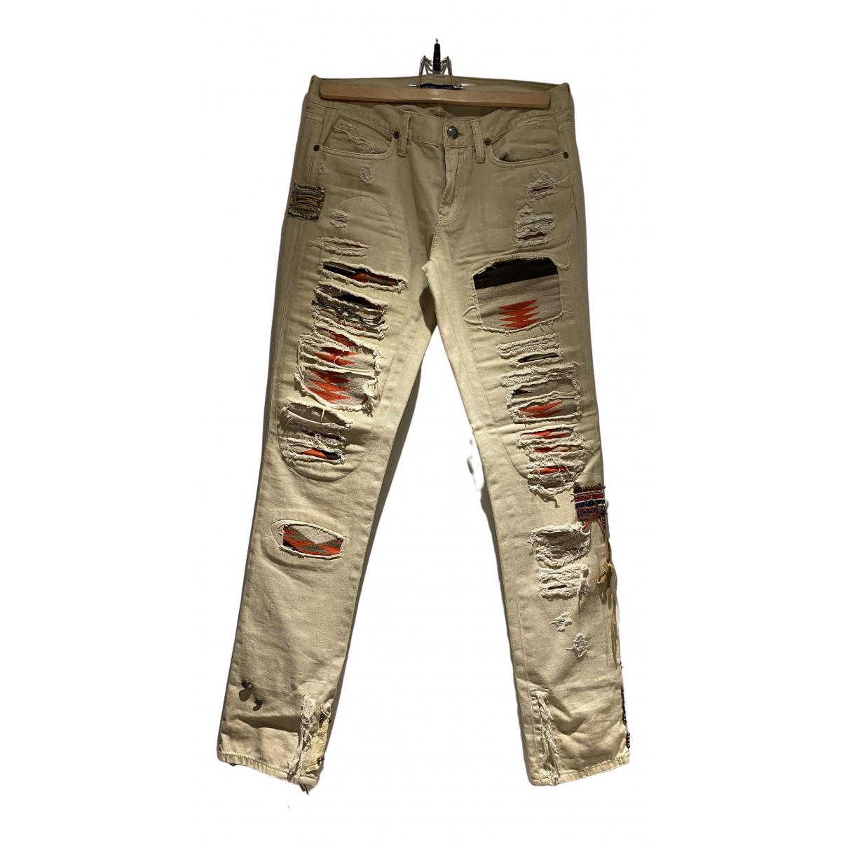 Ralph Lauren N Beige Cotton Jeans for Women 29 US