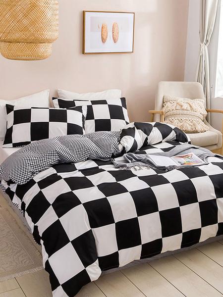 Milanoo Bedding Set Beautiful 3-Piece Polyester Fiber Pink Bedding