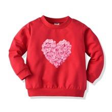 Sweatshirt mit Herzen Muster