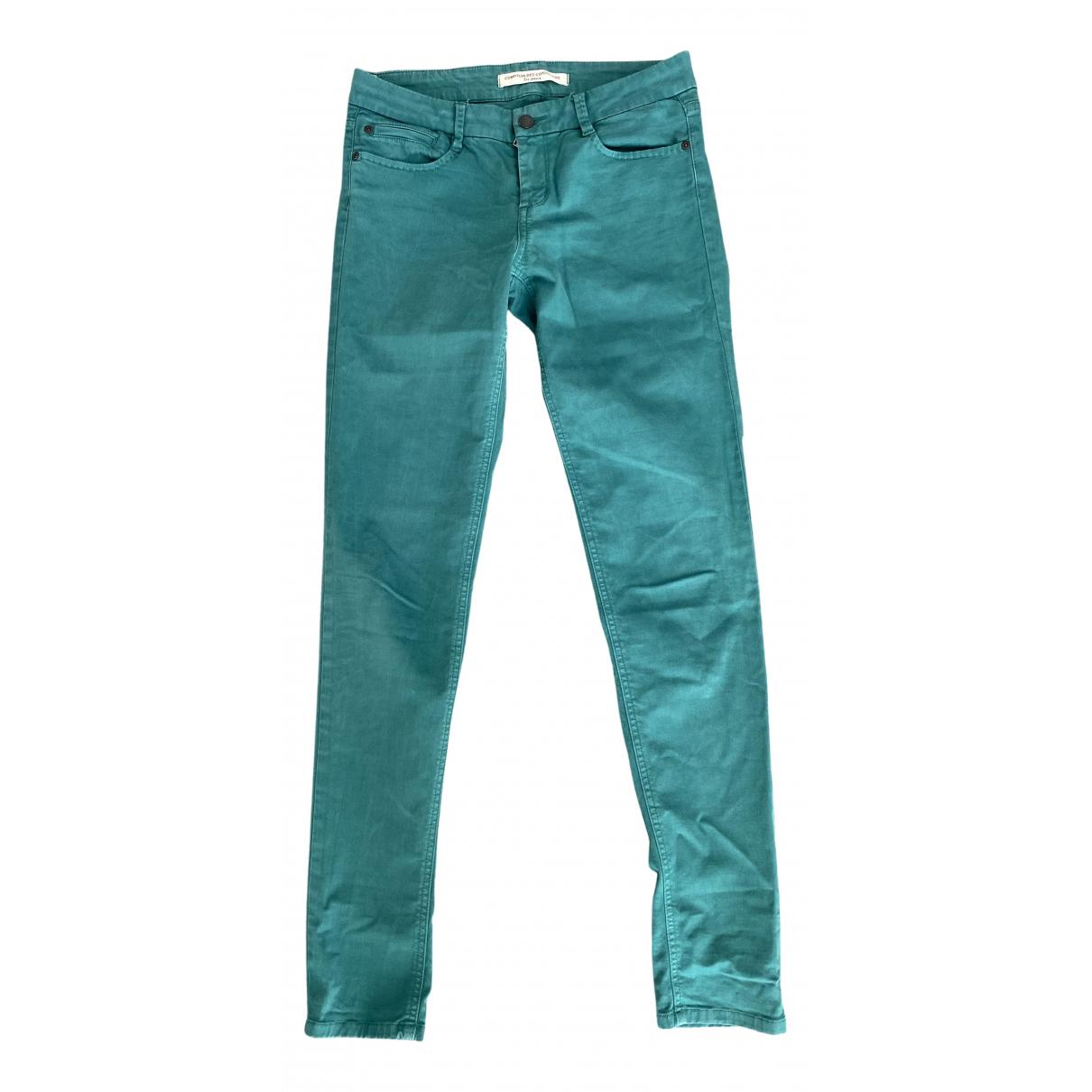 Comptoir Des Cotonniers - Jean   pour femme en coton - elasthane - vert