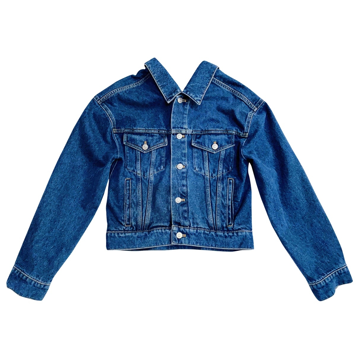Balenciaga \N Blue Denim - Jeans jacket for Women 34 FR
