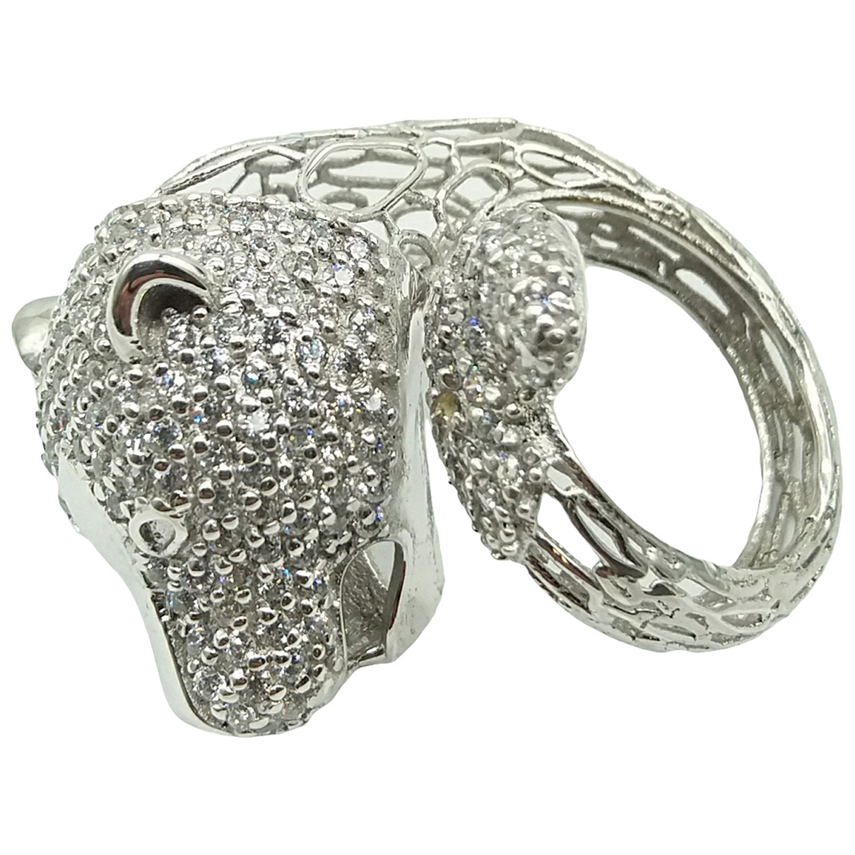 Non Signe / Unsigned Motifs Animaliers Ring in  Silber Silber