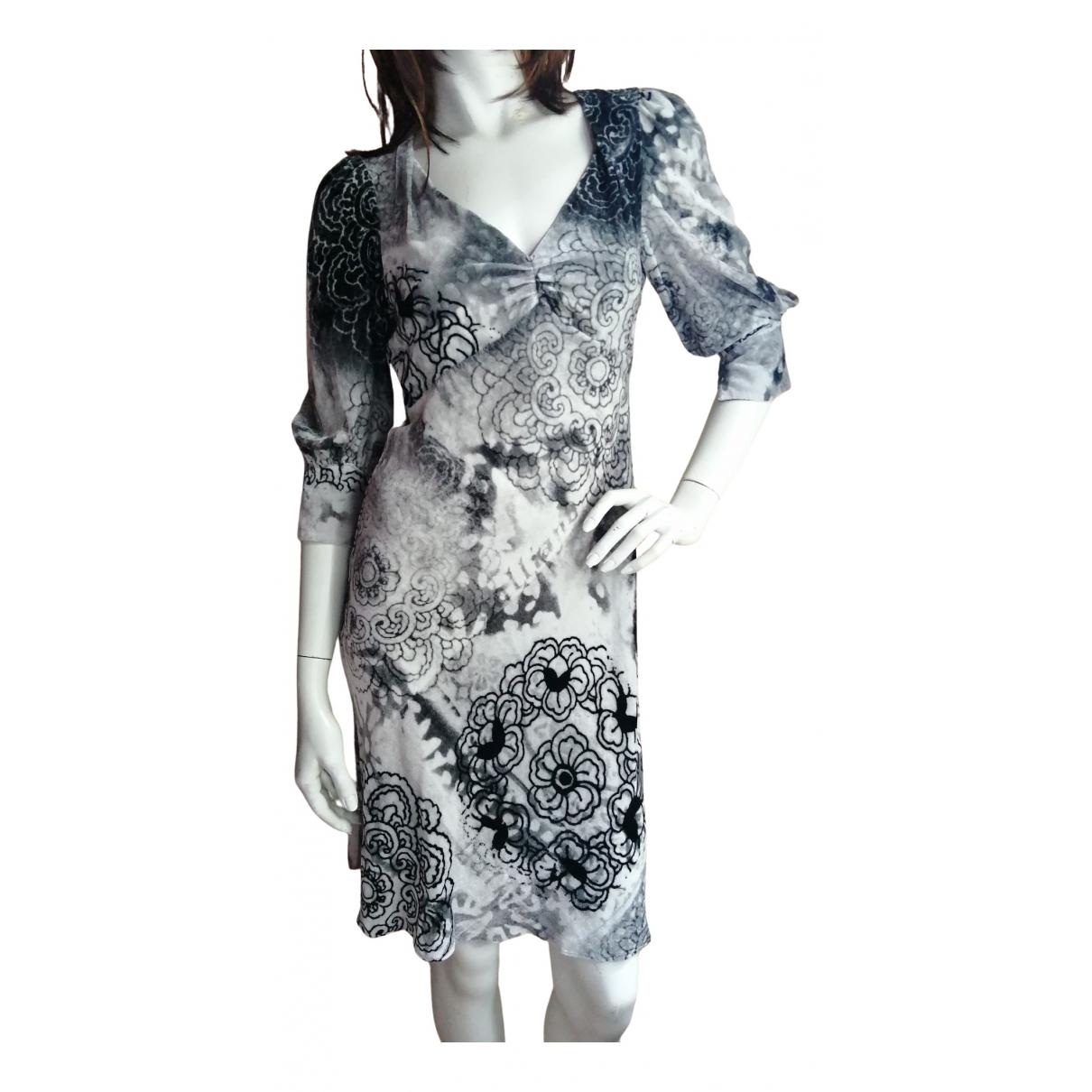 Galliano \N Kleid in  Grau Seide