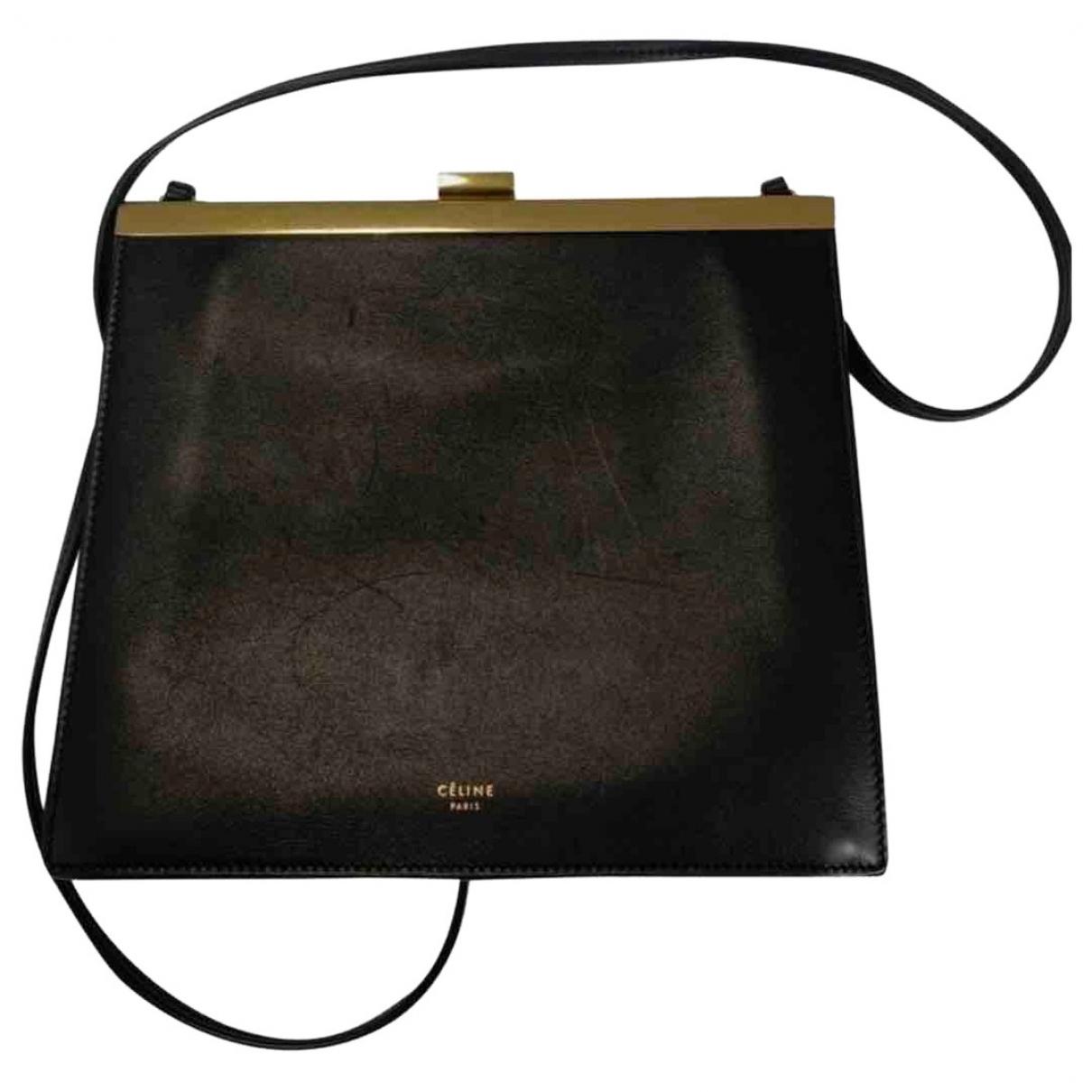 Celine Clasp Black Leather handbag for Women \N