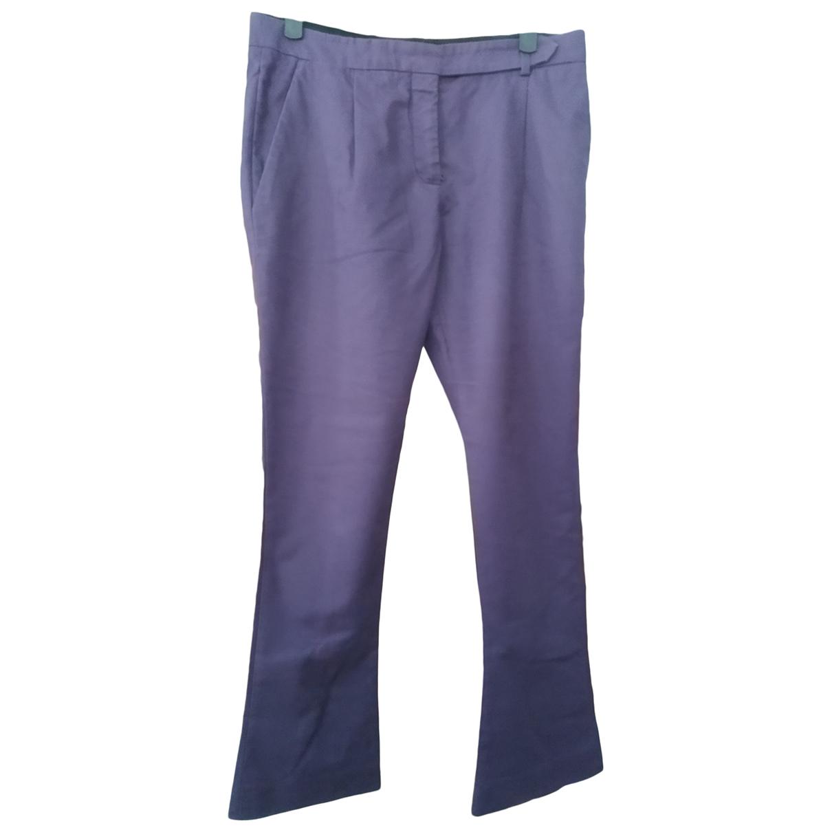 Pantalon en Algodon Violeta Prada