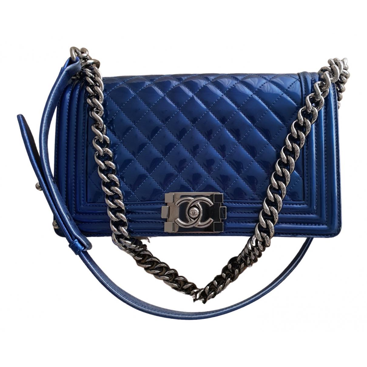 Chanel Boy Metallic Patent leather handbag for Women \N