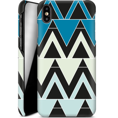Apple iPhone XS Max Smartphone Huelle - Blue Triangles von caseable Designs