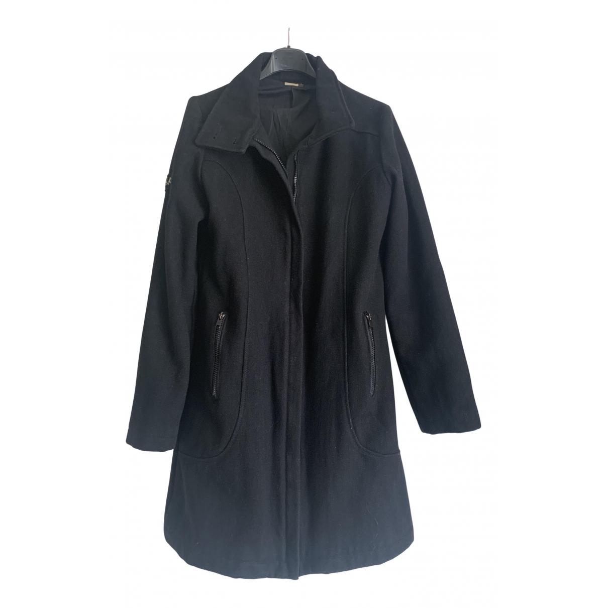 Ikks N Black Wool coat for Women 40 FR