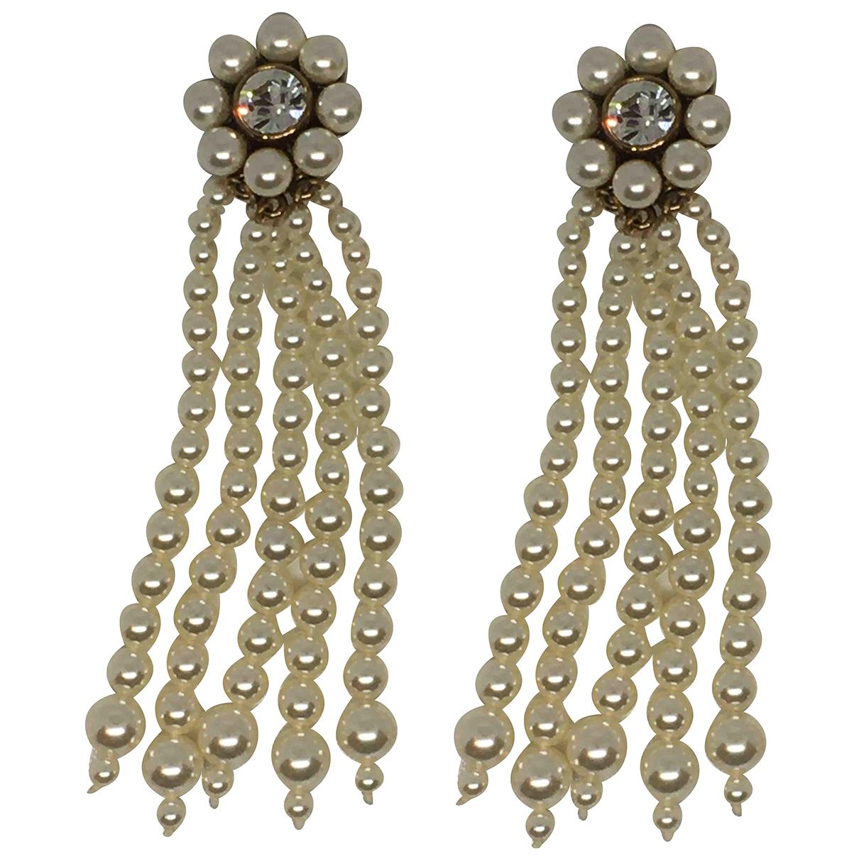 Stella Mccartney - Boucles doreilles   pour femme en perle - blanc