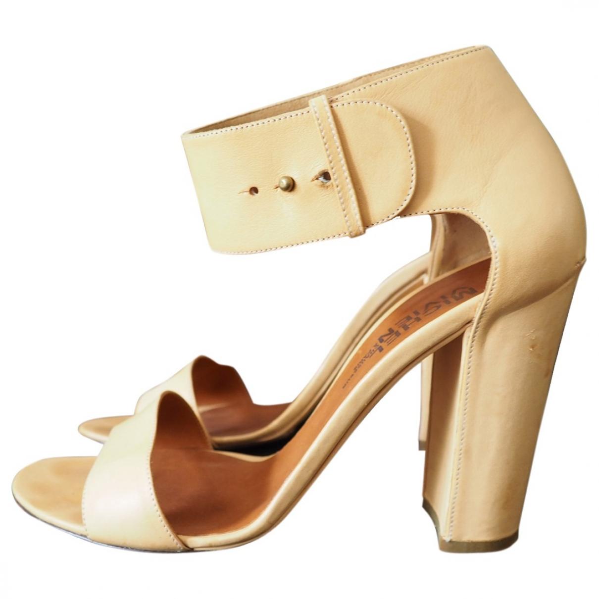 Michel Vivien \N Leather Sandals for Women 39 EU
