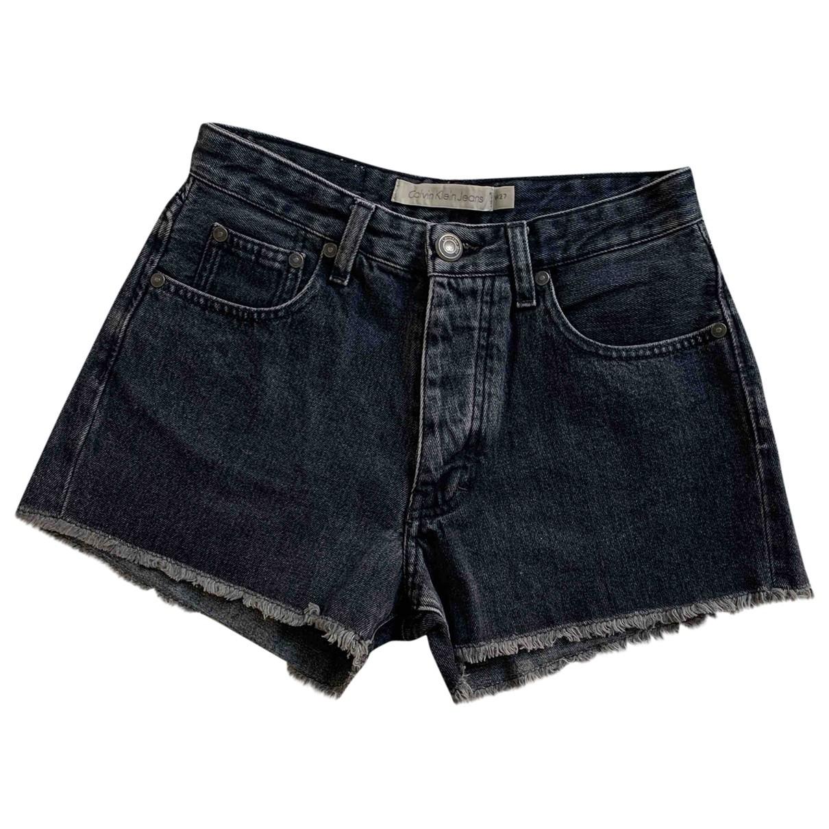 Calvin Klein \N Grey Cotton Shorts for Women S International