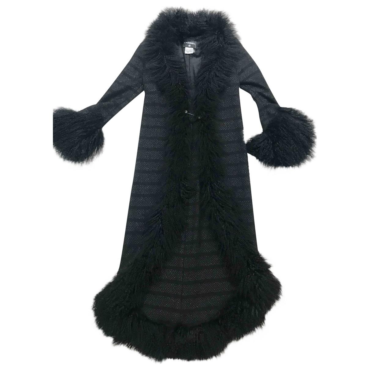 Chanel - Manteau   pour femme en laine - noir