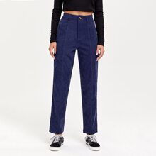 Seam Detail Corduroy Pants