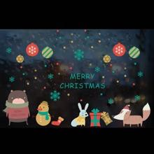 Wandaufkleber mit Weihnachten Karikatur Grafik