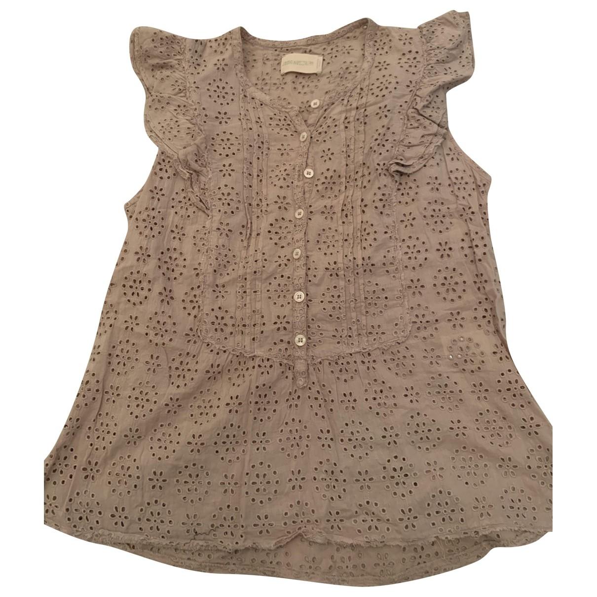 Zadig & Voltaire - Top   pour femme en coton - beige