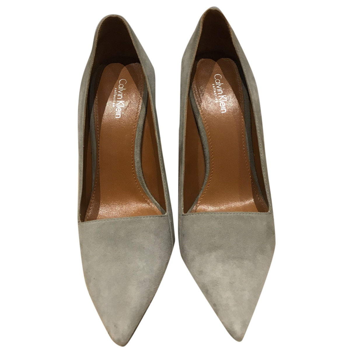 Calvin Klein Collection - Escarpins   pour femme en suede - gris