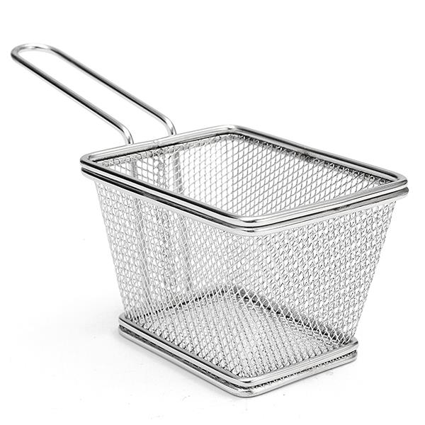 Fry Chip Potato Basket Stainless Steel Mini-kitchen Home Fries Frying Basket