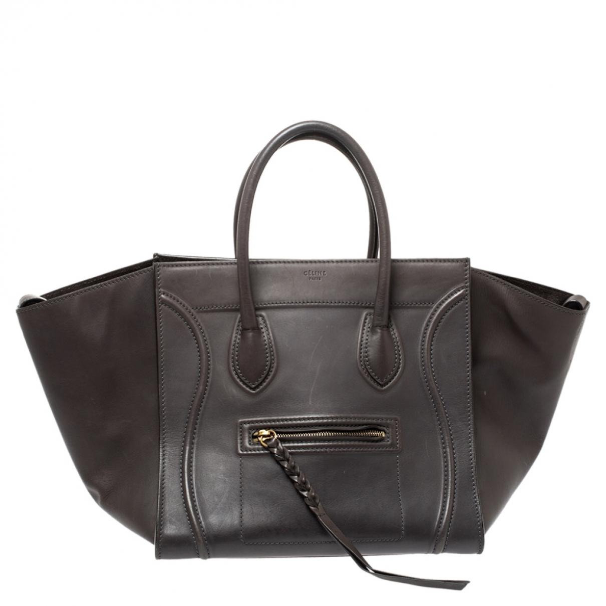 Celine Luggage Phantom Grey Leather handbag for Women N