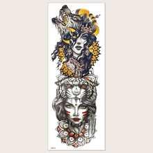 Tattoo Aufkleber mit Maedchen Muster 1 Blatt