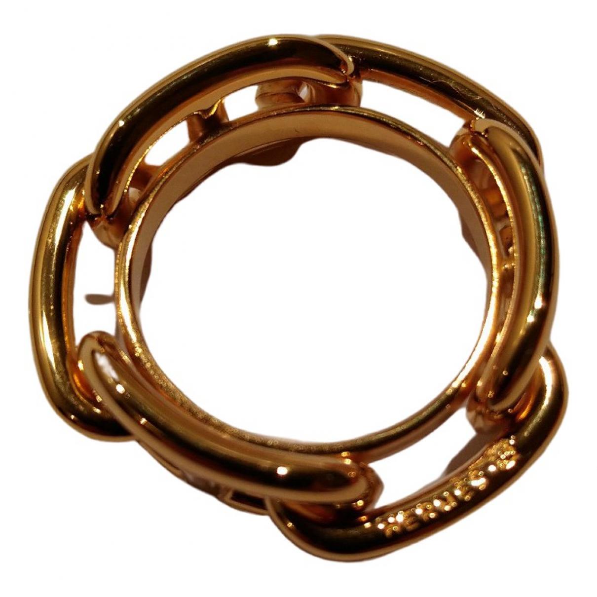 Hermes \N Schal in  Gold Synthetik