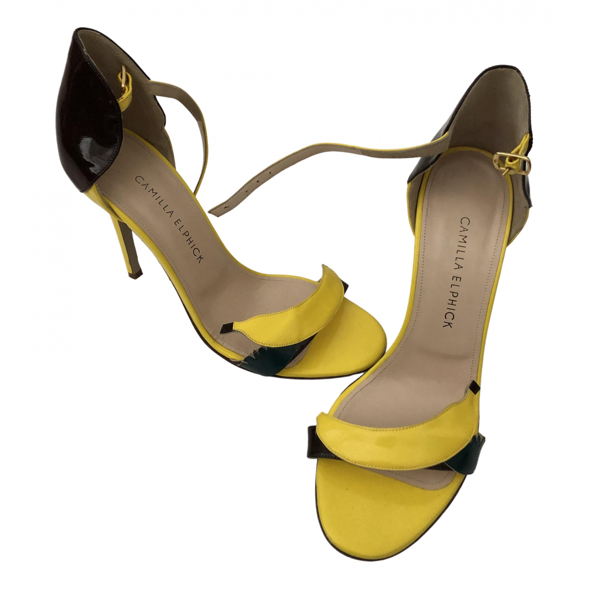 Camilla Elphick \N Yellow Patent leather Heels for Women 38 EU