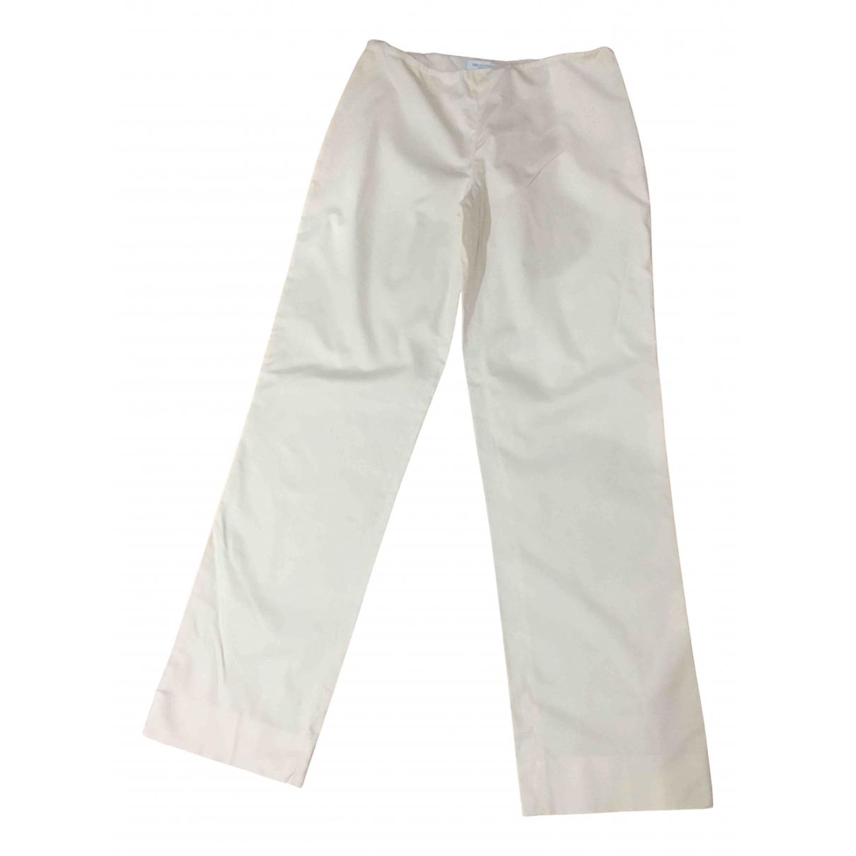 Emilio Pucci N Ecru Cotton Trousers for Women 8 UK