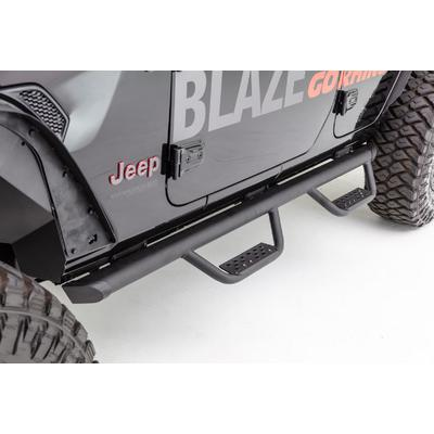 Go Rhino Dominator D2 Side Steps with Drop Down Hoops (Textured Black) - D24506T