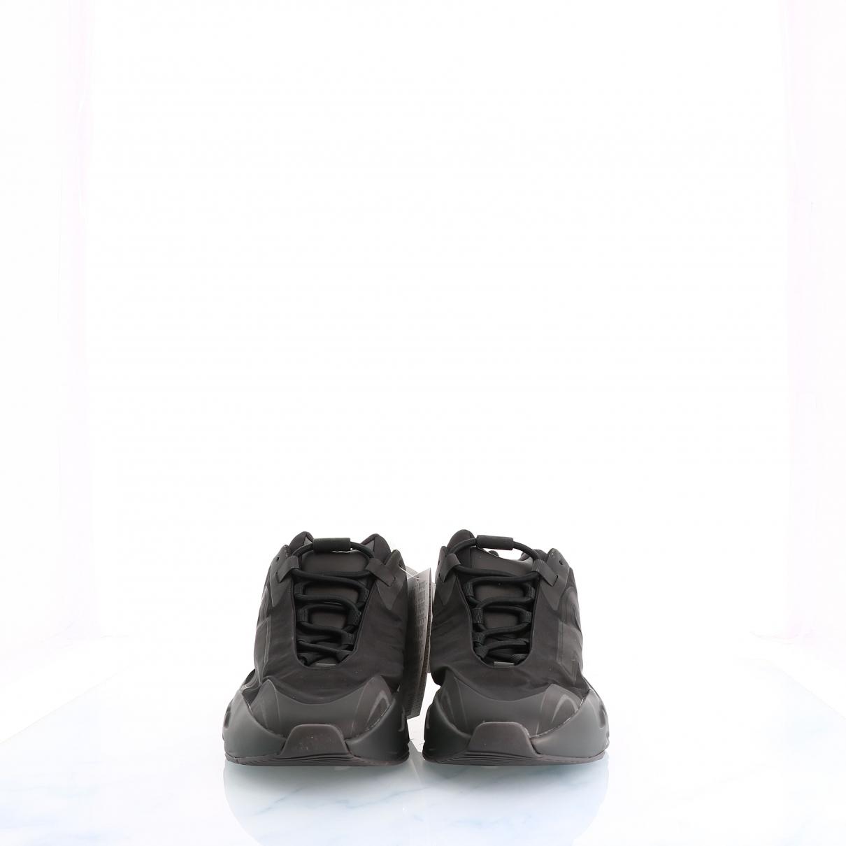 Yeezy - Baskets   pour femme en cuir - noir