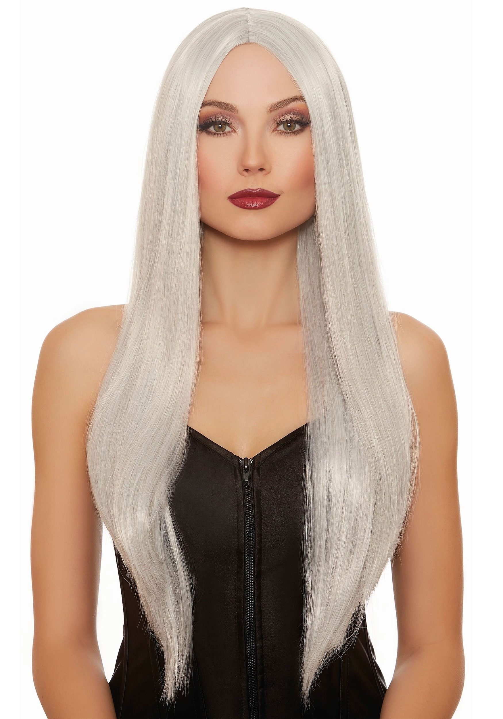 Gray/White Mix Wig Long Straight