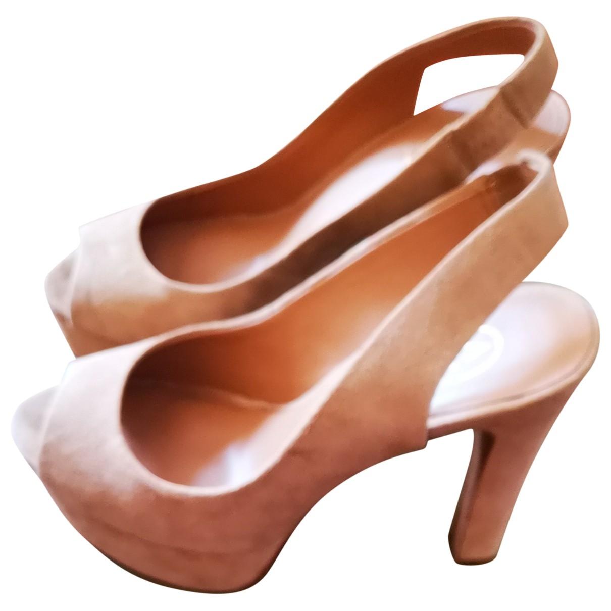 Ash - Sandales   pour femme en cuir - beige