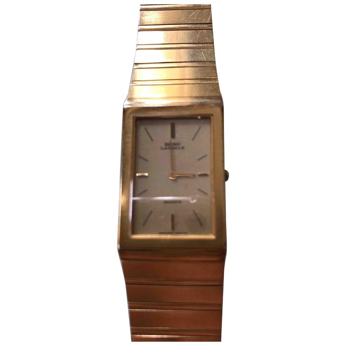 Seiko \N Uhr in  Gold Stahl