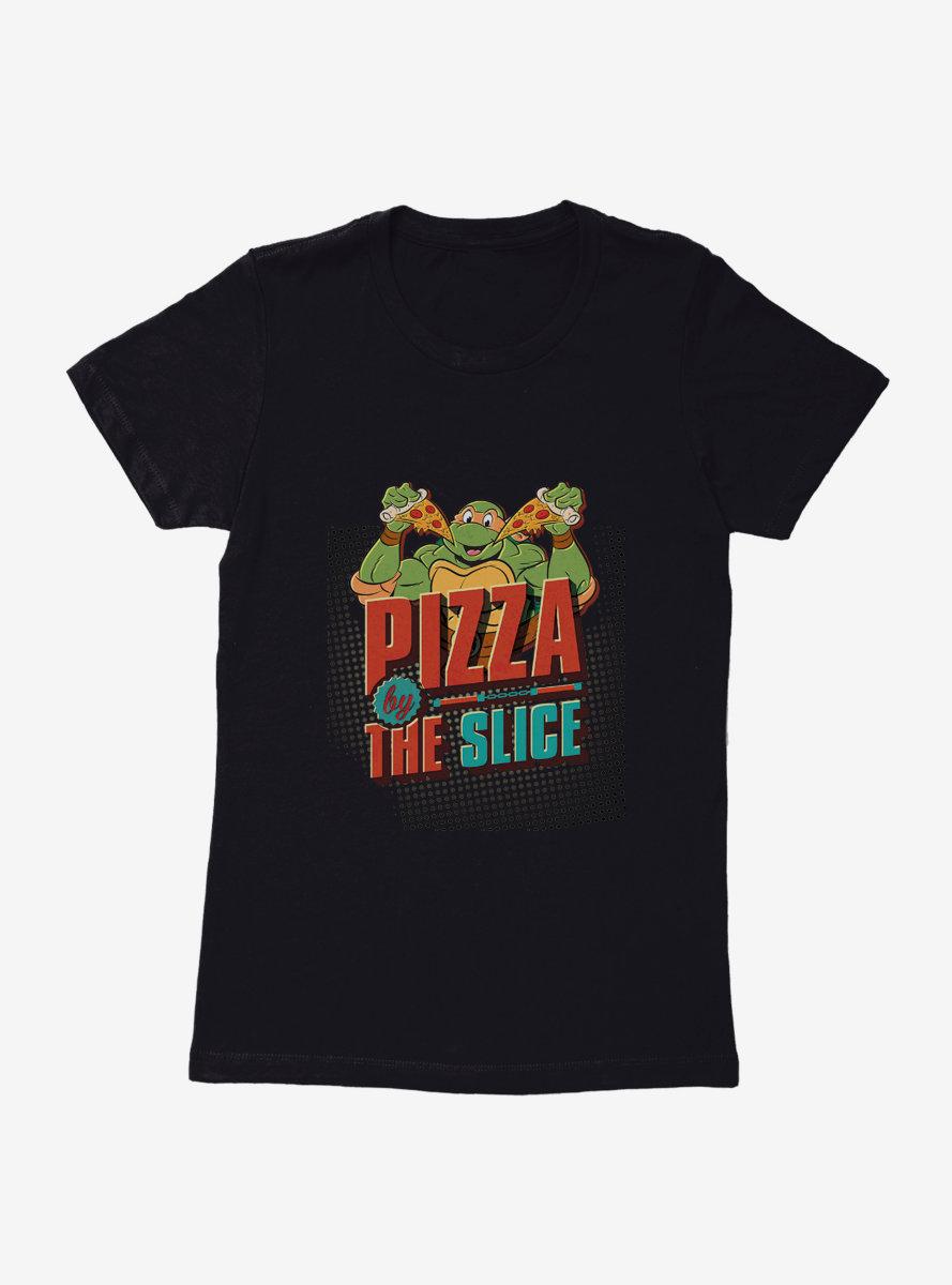 Teenage Mutant Ninja Turtles Michelangelo Pizza By The Slice Womens T-Shirt