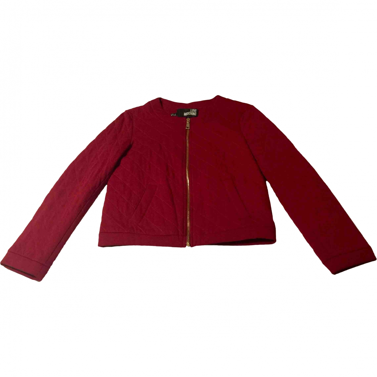 Moschino Love \N Red Cotton jacket for Women 42 IT