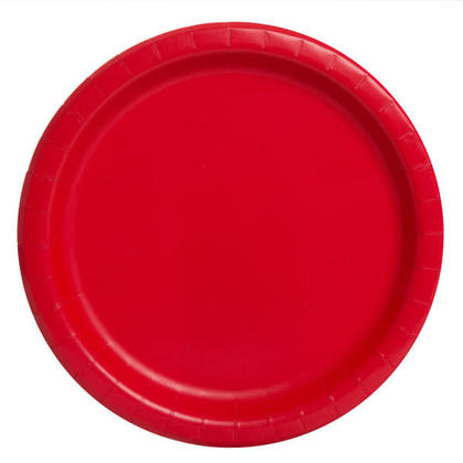 Party Paper Round Dinner Plate 9