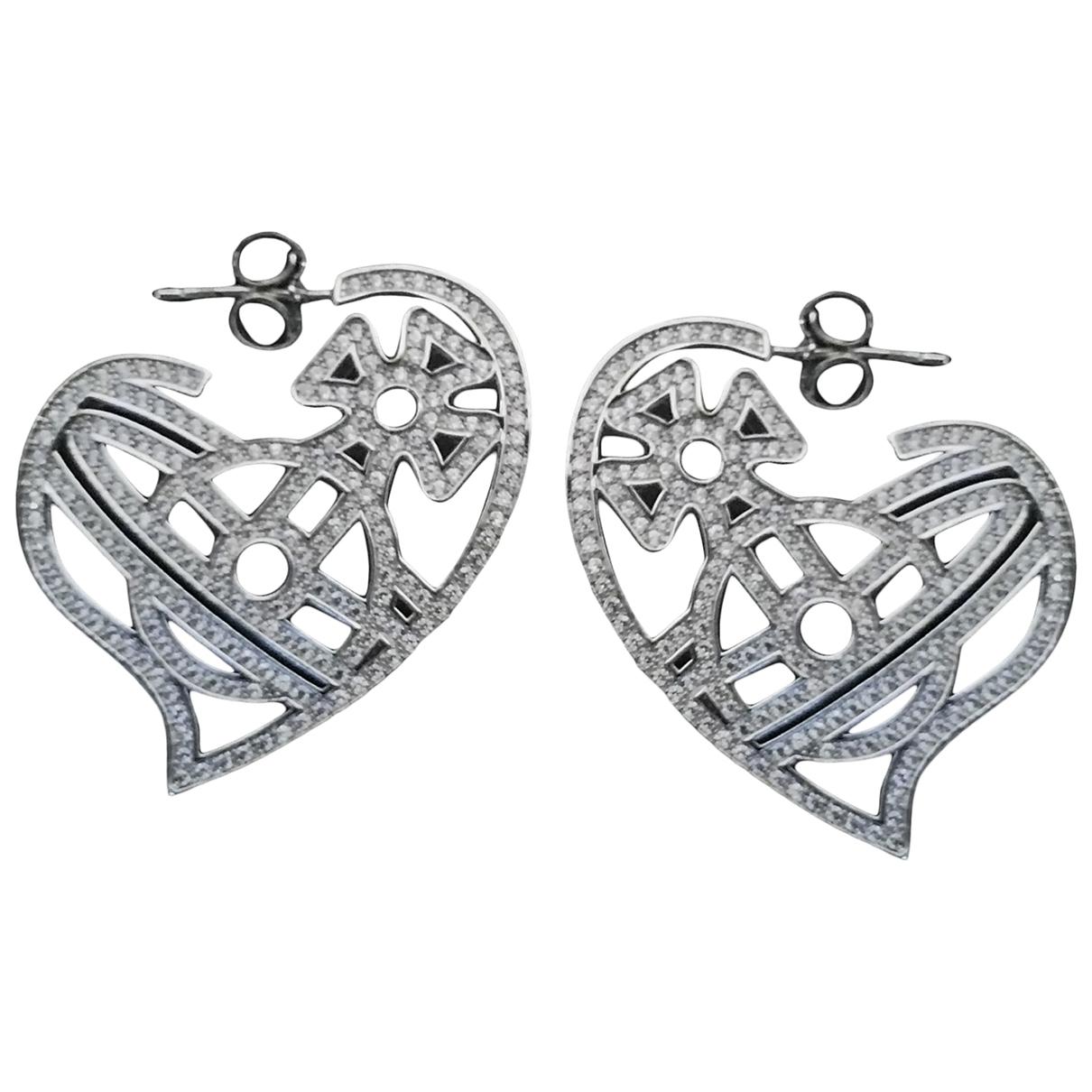 Vivienne Westwood - Boucles doreilles   pour femme en metal - argente