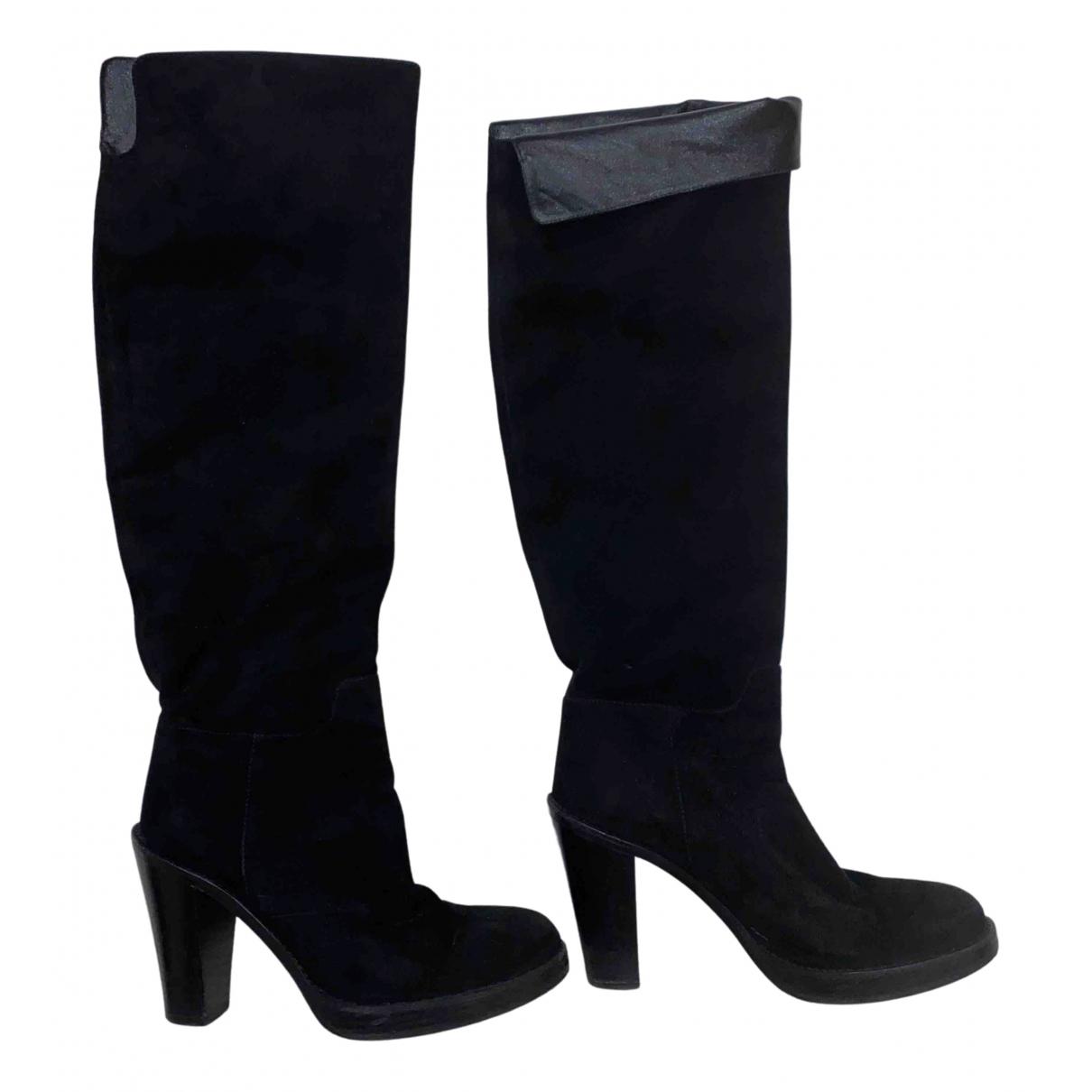 Dolce & Gabbana \N Stiefel in  Schwarz Veloursleder