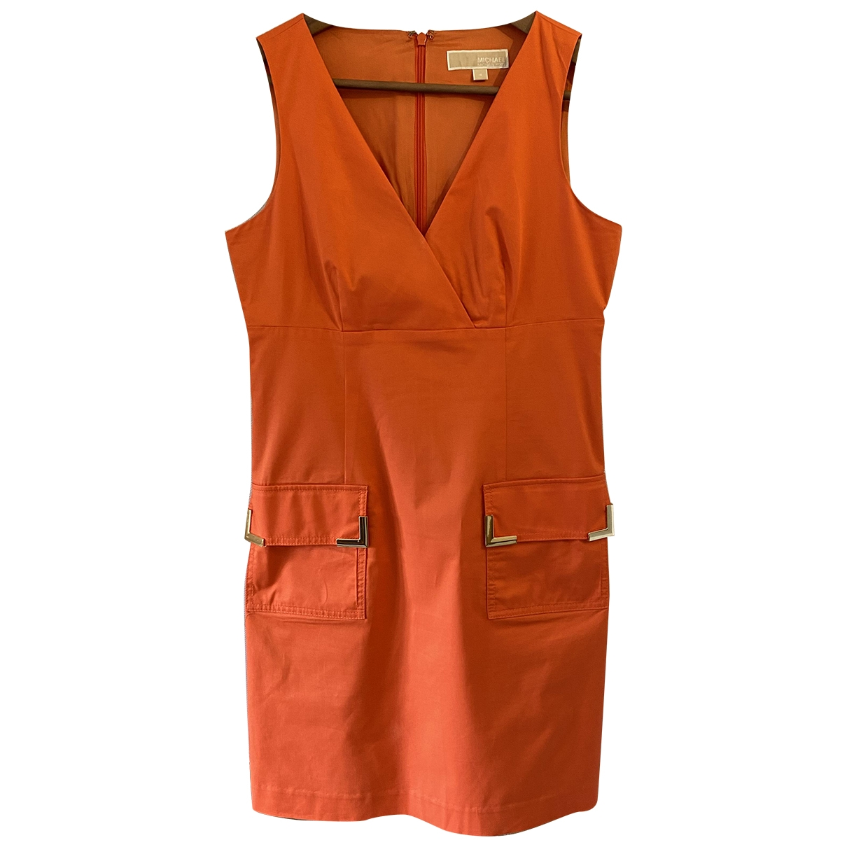 Michael Kors \N Kleid in  Orange Baumwolle