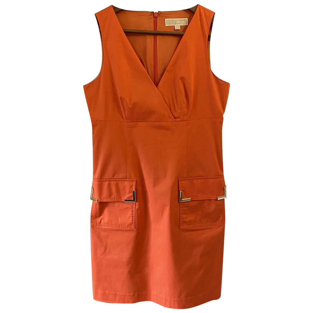Michael Kors \N Kleid in  Orange Baumwolle