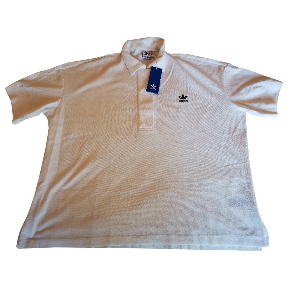 Adidas - Top   pour femme en coton - blanc