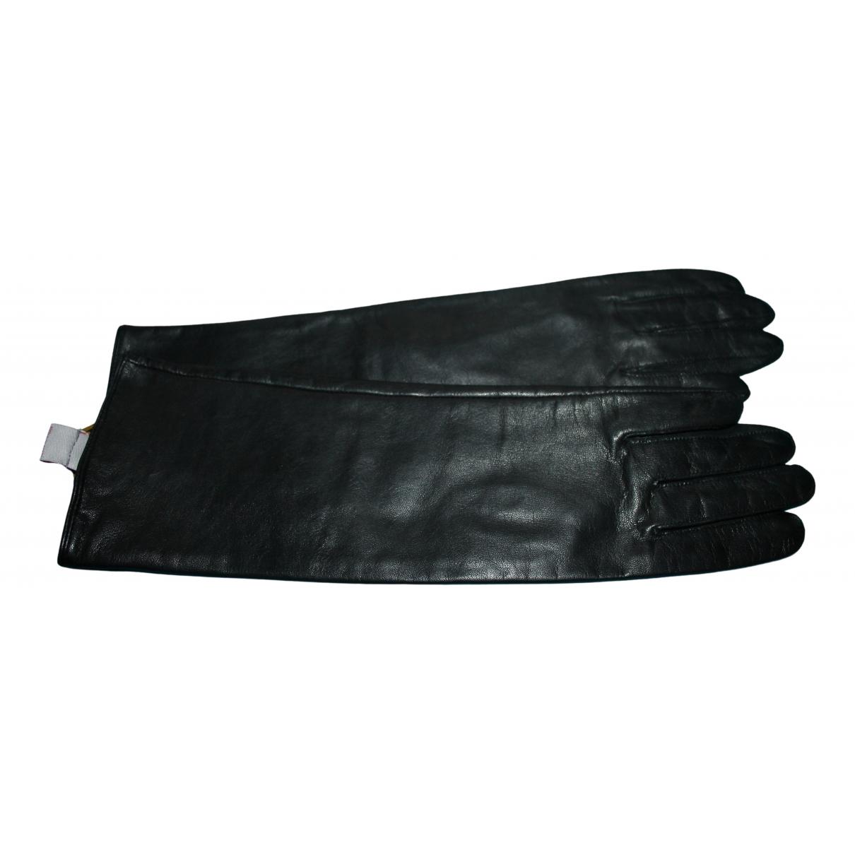 Cyrillus \N Handschuhe in  Schwarz Leder