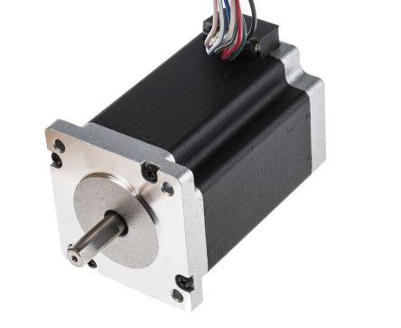 RS PRO Parallel, Series, Unipolar Hybrid, Permanent Magnet Stepper Motor 1.8°, 2.2Nm, 4.17 V, 6 V, 8.4 V, 2 A, 8 Wires